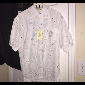 White Versace Button Up